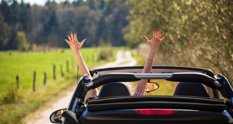 Fahrt mit dem Cabrio
