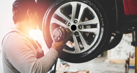 Sicherheit durch den Einbau von Reifendruckkontrollsystemen.