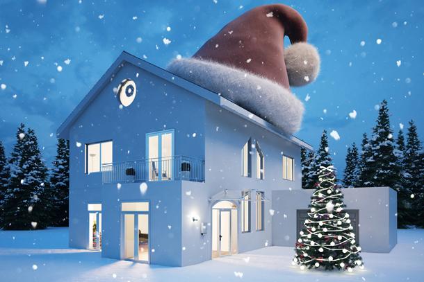 Lassen Sie Ihrer fröhlichen Weihnachtsbeleuchtung freien Lauf.