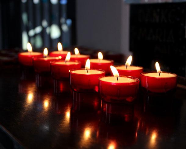 Kerzen in Gedenken