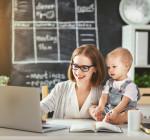 Geschäftsfrau mit Kind