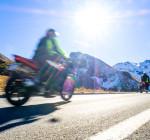 Motorrad in den Bergen